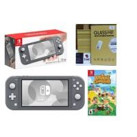 Nintendo Switch Lite Gray Animal Crossing Bundle