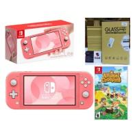 Nintendo Switch Lite Coral Animal Crossing Bundle