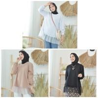snowy top/blouse pearl mutiara cantik/baju lebaran hijabbers muslim