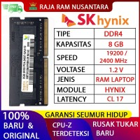 RAM LAPTOP HYNIX DDR4 8GB 2400 MHz 19200 ORI GAMING RAM NB DDR4 8GB