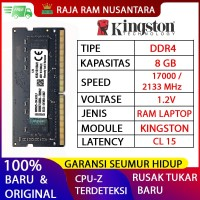 RAM LAPTOP KINGSTON DDR4 8GB 2133 MHz 17000 ORI GAMING RAM NB DDR4 8GB