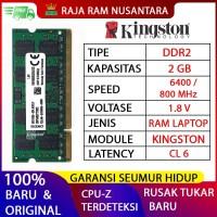 RAM LAPTOP KINGSTON DDR2 2GB 6400 / 800 MHz ORI RAM SODIMM 1.8v 2GB
