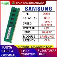 RAM PC SAMSUNG DDR3 8GB 10600 / 1333 MHz ORI RAM KOMPUTER RAM PC 1.5v