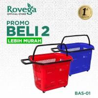 2in1 Rovega Keranjang Belanja Plastik Premium Troli Basket BAS-01
