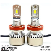 Lampu Led Turbo H11 AES I Led Headlight Warranty 1 Year PUTIH S0468
