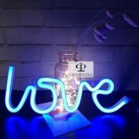 Lampu Neon Dekorasi / Lampu Hias / Hiasan Dinding Tulisan LOVE Pink