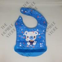 Celemek Mangkok Makan Bayi Anak PEVA Silikon Anti Tumpah Basah/ Bib