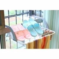 Gantungan Hanger Jemuran Baju Handuk Sepatu Portable Balkon Apartemen