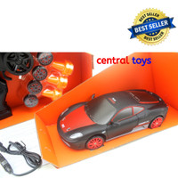 Huangbo rc drift mini SC24A03 1:24 2.4ghz 4wd LED mainan mobil remot