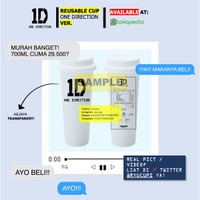 [PREORDER DESIGN ONE DIRECTION] REUSABLE CUP TWITTER @RYUCUPS OT5 1D
