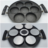 Cetakan Kue 7 Lubang Marble Coating/ snackmaker 7 lubang