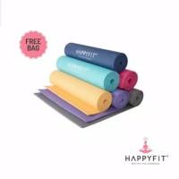 Happyfit Matras Yoga 6MM Gratis Tas PVC Mat Free Bag 100 %ori
