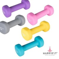dumbel Barbel 1 kg 2 pc Neoprene anti slip HAPPYFIT