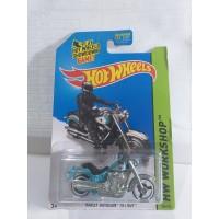 HOT WHEELS MOTOR HARLEY DAVIDSON FAT BOY BIRU