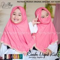 Hijab Niqob Anak/Kerudung Masker Anak/Jilbab Niqab Anak/Bergo Anak