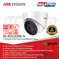 DS-2CD1323G0-IU - HIKVISION 2MP IP CAMERA - BUILT IN MIC
