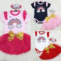 Baju Anak Bayi Perempuan Setelan Rok Tutu Set Bandana Unicorn Star