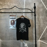 T-SHIRT BAPE x MASTERMIND MIRROR BEST PERFECT CLONE ORIGINAL L TIMBUL