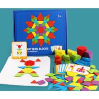 Pattern Blocks / Puzzle Bentuk / Puzzle Geometris