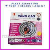 PAKET Regulator Meteran + Selang 1,8m WINN GAS PSRF W-900M Double Lock