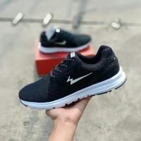 Sepatu Eagle Original / Running / Olahraga / Badminton / Sneakers Pria - Hitam, 39