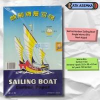 Kertas Karbon Sailing Boat Single Warna Biru Merk Kapal / perahu