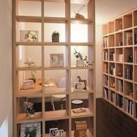 rak buku partisi penyekat ruangan kayu jati Belanda