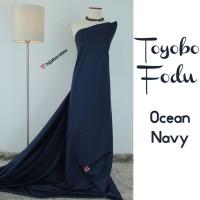 HijabersTex 1/2 Meter Kain TOYOBO FODU Ocean Navy