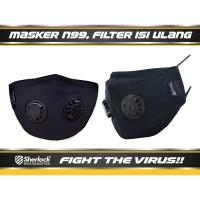 MASKER RESPIRATOR SHERLOCK N99 ( EXPRESS!! SURABAYA,BANDUNG, MAKASSAR)