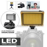 Video Light COSTA 96 LED Lampu Studio Foto Camera Smartphone
