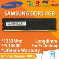 RAM PC SAMSUNG DDR3 4GB PC10600 / 1333Mhz LONGDIMM MEMORY NEW DDR 3