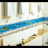 RELIZA Wallsticker / Wall Sticker BORDER LIST IKAN KAMAR MANDI TOILET