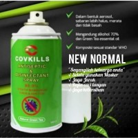 ANTISEPTIC & DISINFECTANT SPRAY COVKILL 330 CC NATURAL GREEN TEA