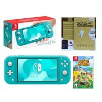 Nintendo Switch Lite Turquoise Animal Crossing Bundle