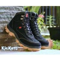sepatu boots safety ujung besi kickers tracking kerja pabrik pria