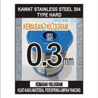 kawat HARD stainless steel 304 uk 03mm 1KG