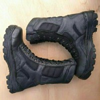 sepatu pria army boots safety shoes ujung besi reseleting pdh pdl