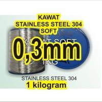 kawat soft stainless steel ukuran 03mm kode 304 1KG