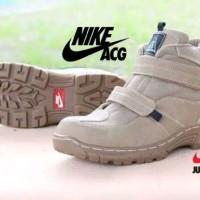 Sepatu Boots Nike Cream safety ujung besi adventure touring motor