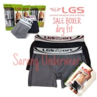 CELANA DALAM BOXER DRY FIT LGS SPORT ESXLUSIVE 672 size S-XL isi 2
