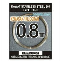 kawat 0.8mm HARD stainless steel 304 SATU KG