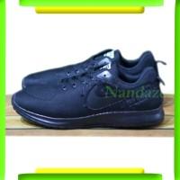 Sepatu Sekolah Kuliah Harian Nike Airmax One Hitam pria wanita
