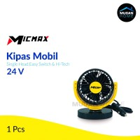Kipas Angin Mobil Micmax Single-Headed - Yellow 24 Volt