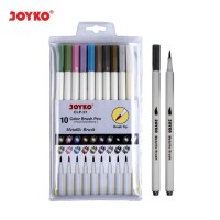 Color Brush Pen Pena Kuas Warna Joyko CLP-21 10 Warna Color