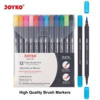 Color Brush Pen Pena Kuas Warna Joyko CLP-43 12 Warna Color