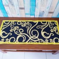 Taplak meja tamu motif tralis 40x90 cm
