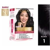 L'Oreal Paris Excellence Creme Hair Color / Cat Rambut #1 - Black