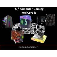 PAKET PC KOMPUTER GAMING INTEL 9 I5 9400F 8GB HDD 500GB GTX 1050 TI