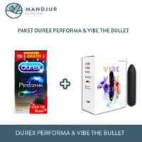 Paket Durex Performa Isi 6 dan Vibe The Bullet