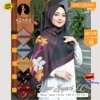 Jilbab Segi Empat Noor Syari LC Voal Motif 8 by Azara Scarf - Hijab